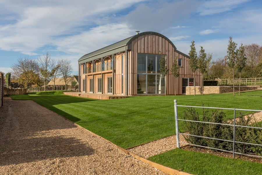 An inspired exciting Cotswold Revival house-  a pioneering concept which strikes a careful balance between high quality of design and simplicity of purpose.