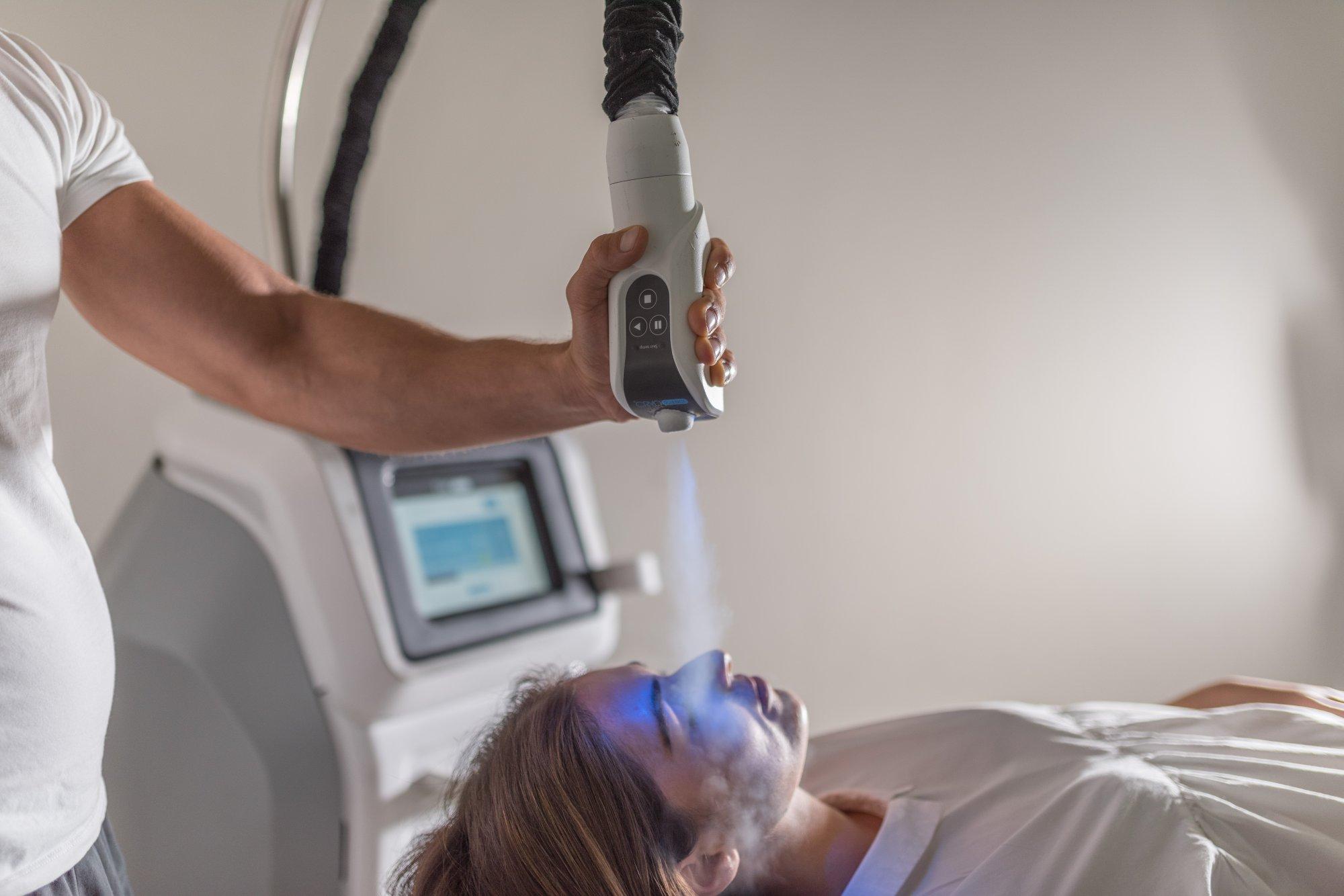 Cryotherapy facial blog image