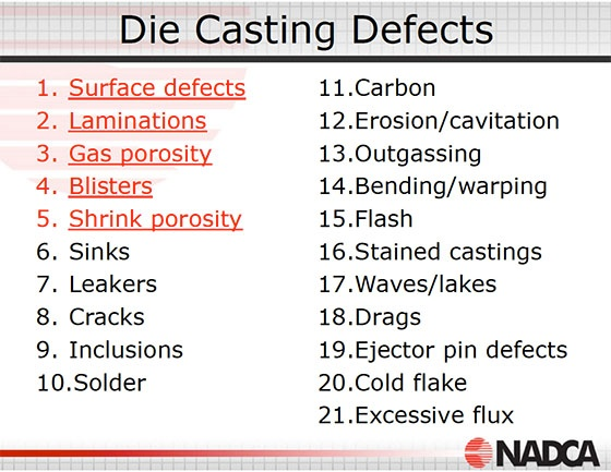 NADCA EC-515 Die Casting Defects Course Review