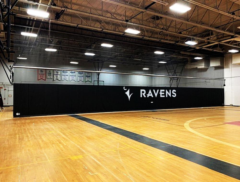 gym divider curtain for carleton university