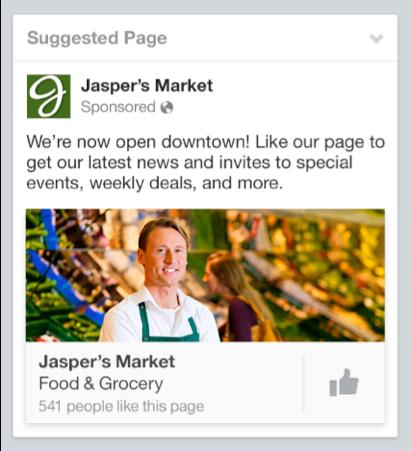 Facebook like ad sidebar