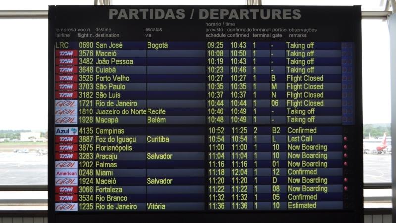 tableau de départs