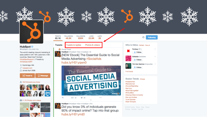 HubSpot Twitter Account