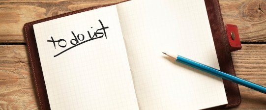Make a to do list and reduce moving stress