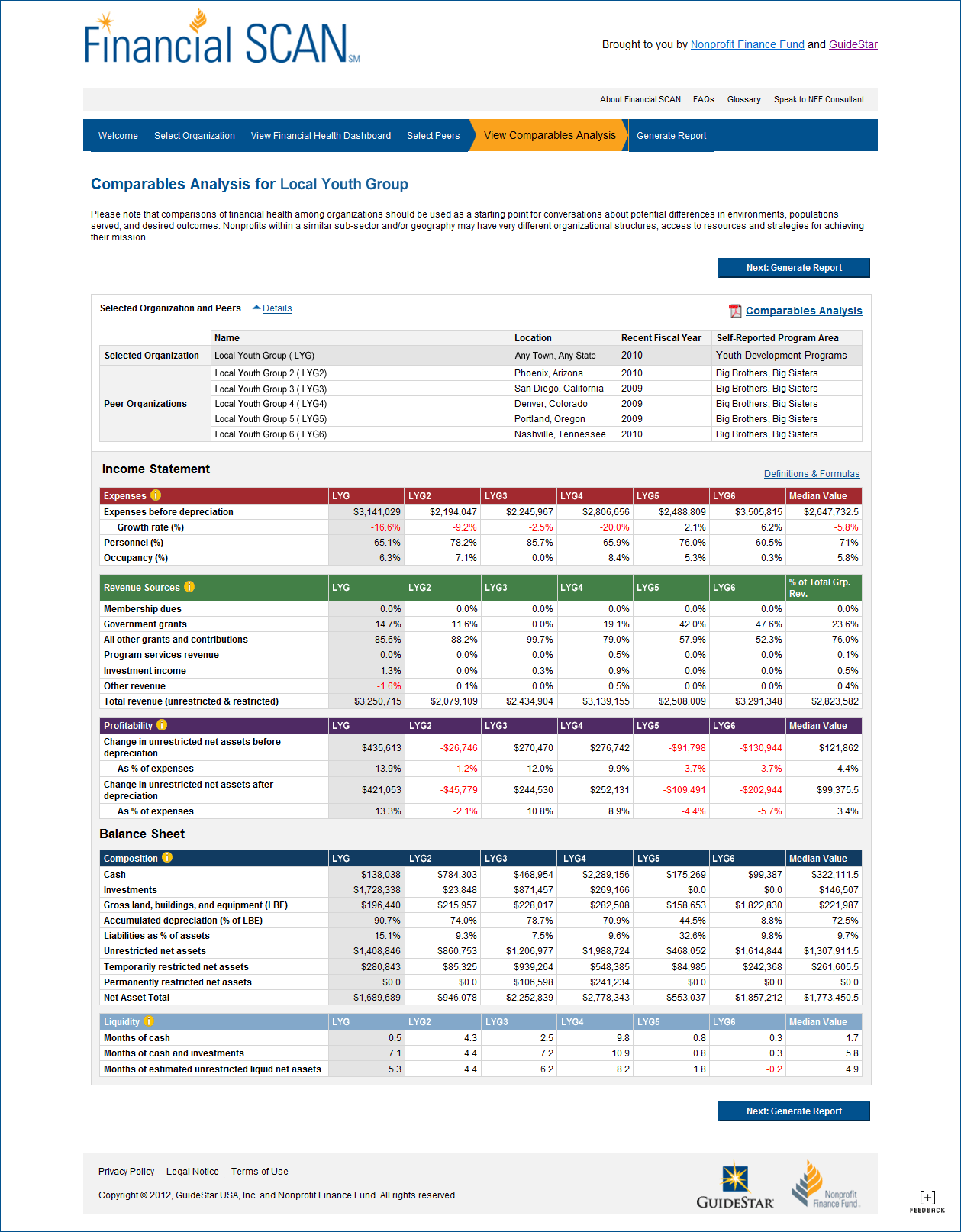 About The Financial Scan Report