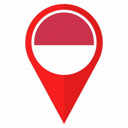 Country, direction, flag, indonesia, location, navigation ...