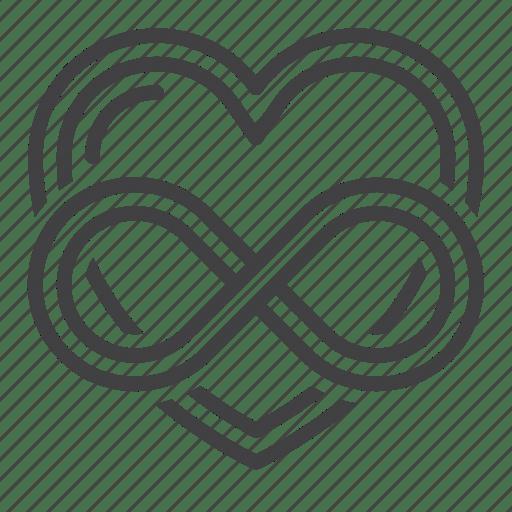 Download Eternal, heart, infinity, love icon