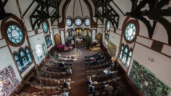 Прихожане лютеранской церкви в России. Архивное фото