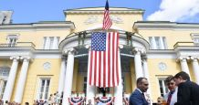 Driver Detained After Crashing Into Gate of US Ambassador's Residence in Moscow
