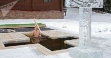 President Putin Dunks Himself in Icy Water on Orthodox Epiphany – Video