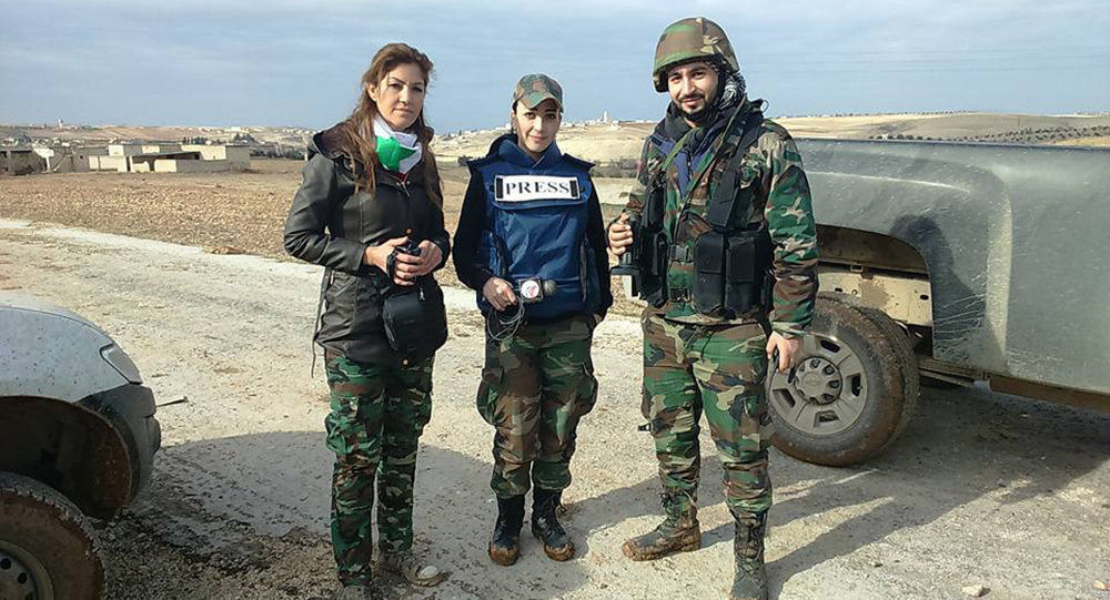 Military women journalists
