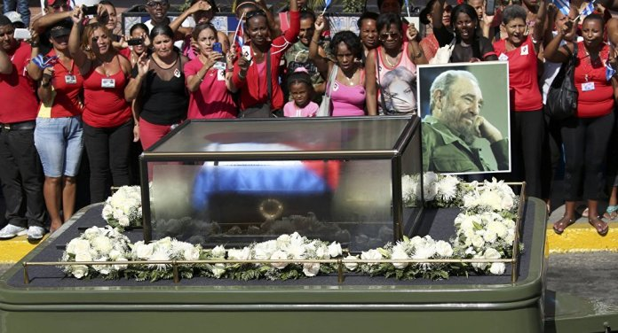 Image result for funeral fidel castro