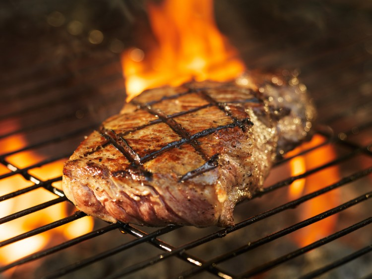Image result for steak on the grill