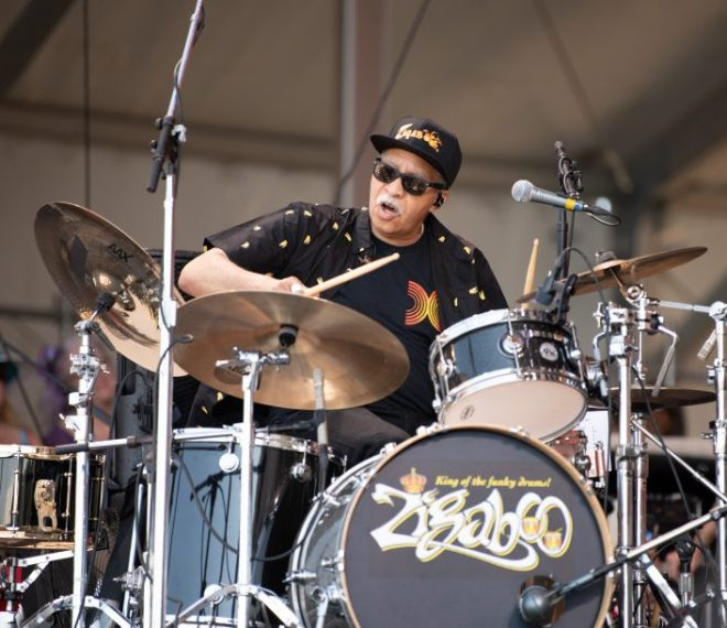 Zigaboo Modeliste at the 2019 New Orleans Jazz & Heritage Festival