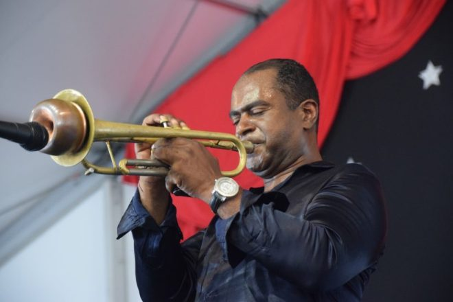 Marlon Jordan at the 2019 New Orleans Jazz & Heritage Festival