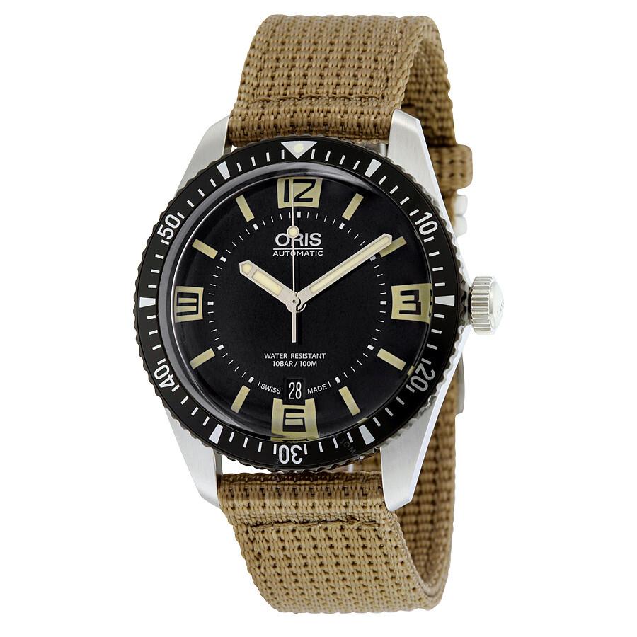 Imagini pentru Oris Divers Sixty-Five Black Dial Automatic Mens Watch 733-7707-4064BRFS