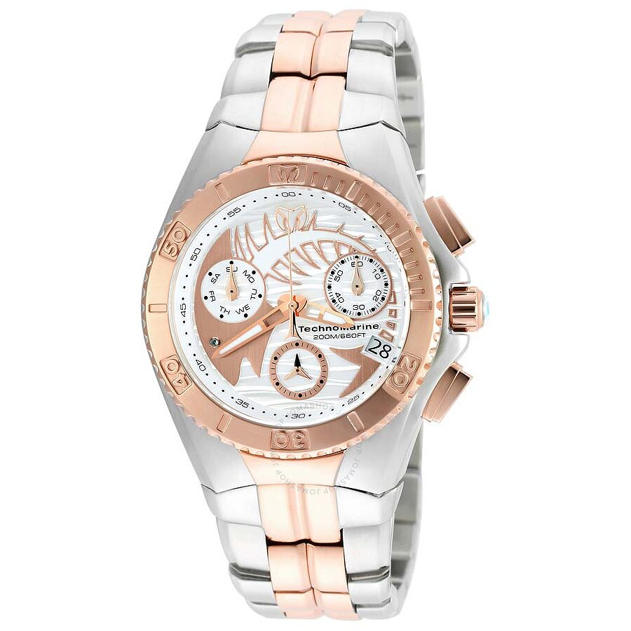 Technomarine Cruise Dream White And Rose Dial Two Tone Men