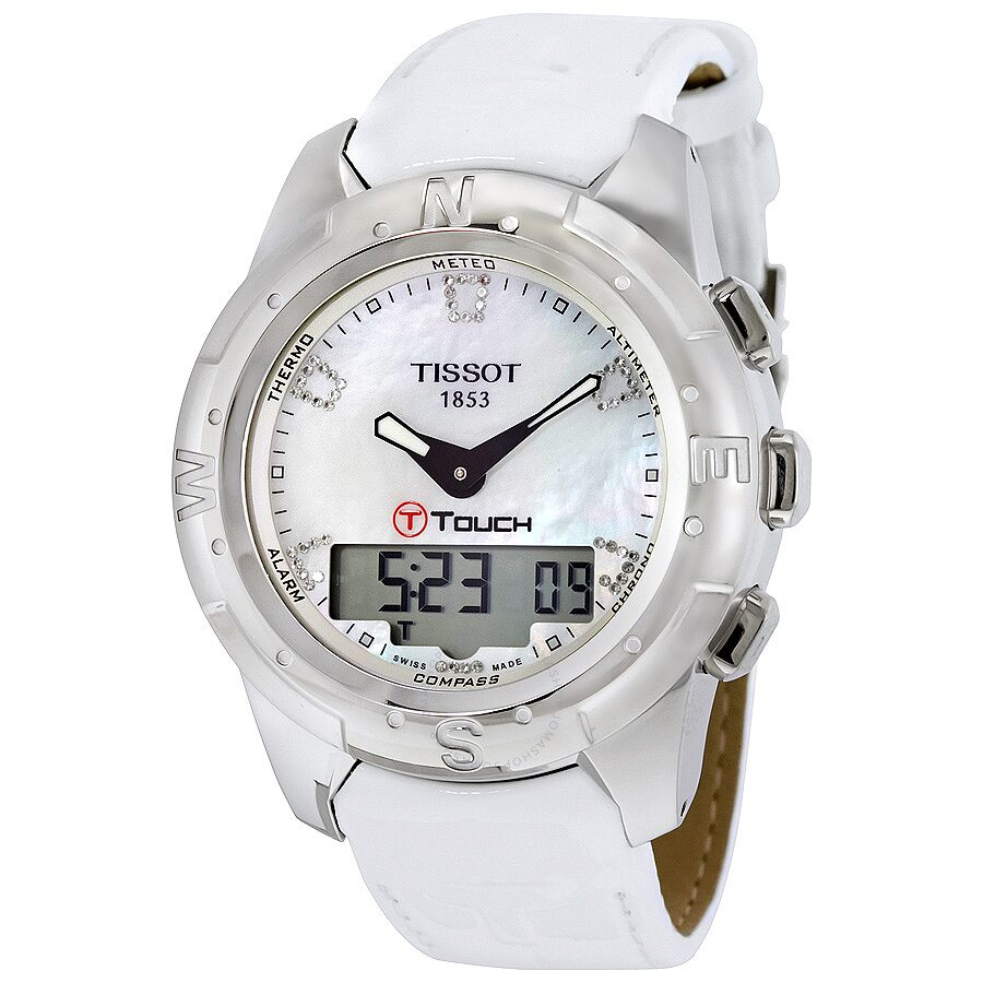 Tissot T Touch II White Mother Of Pearl Ladies Watch