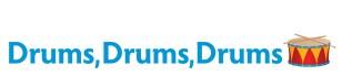 Drums, Drums, Drums logo