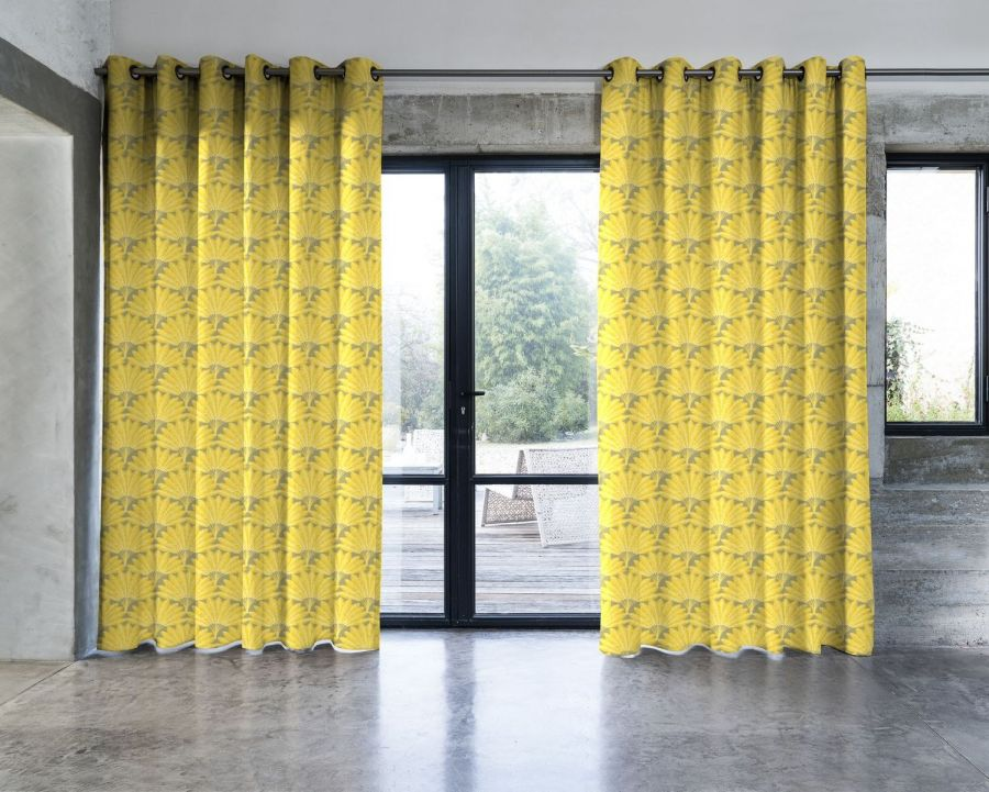 https www mesrideaux fr rideau l arbre voyageur jaune fond gris 1517733719