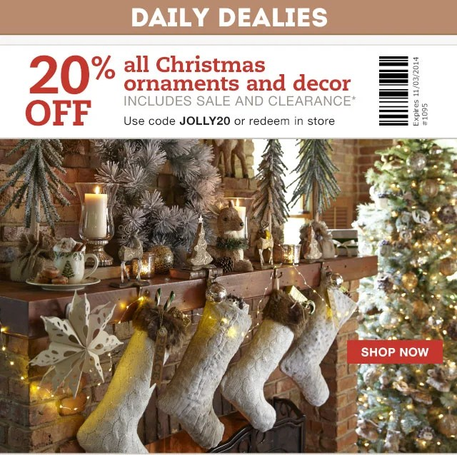 Pier 1 Daily Dealy Save On All Christmas Decor Milled