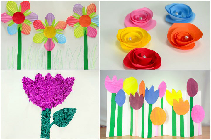 How To Make Paper Flowers For Kids  DIY Images Of Paper Flower Making for Kids