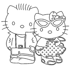 hello kitty free coloring pages # 17