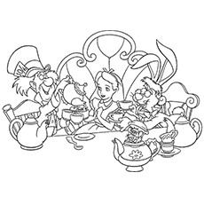 alice in wonderland coloring page # 2