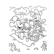minnie and mickey mouse coloring pages # 6