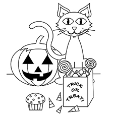 black cat coloring page # 9