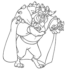 beauty and the beast coloring page # 7