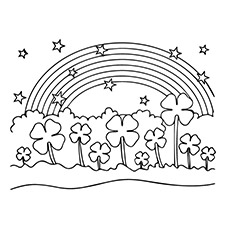 picture relating to Printable Four Leaf Clovers identified as 4 Leaf Clover Printable Coloring Internet pages