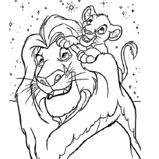 lion king coloring page # 1