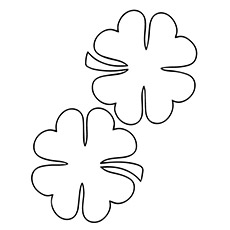 photo relating to Printable Four Leaf Clover identified as 4 Leaf Clover Shots Towards Print