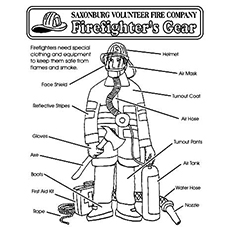 Firefighter Gear Coloring Page