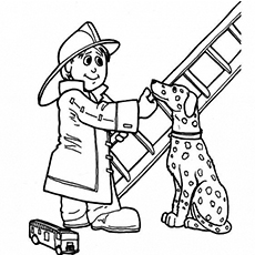 fireman coloring page # 5