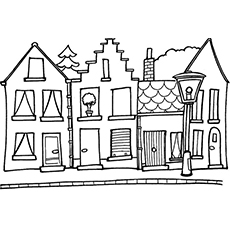 Top 20 Free Printable House Coloring Pages Online