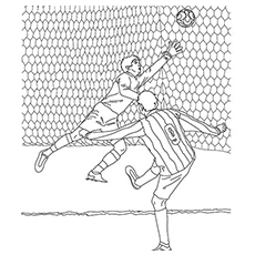 soccer coloring page # 8