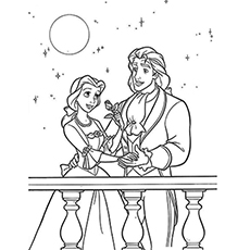beauty and the beast coloring page # 12
