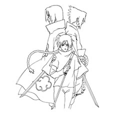 Kakashi With A Scroll Coloring Pages