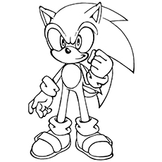 sonic coloring pages printable # 1