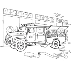 firetruck coloring pages # 5