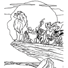 lion king coloring page # 8