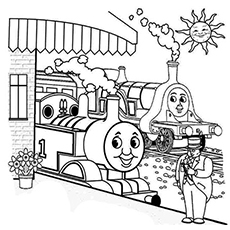 Thomas the train engine games thomas the train bubble for Spencer the train coloring pages