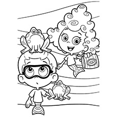 bubble guppies coloring page # 16
