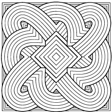 geometric coloring page # 7