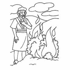 burning bush coloring page # 2
