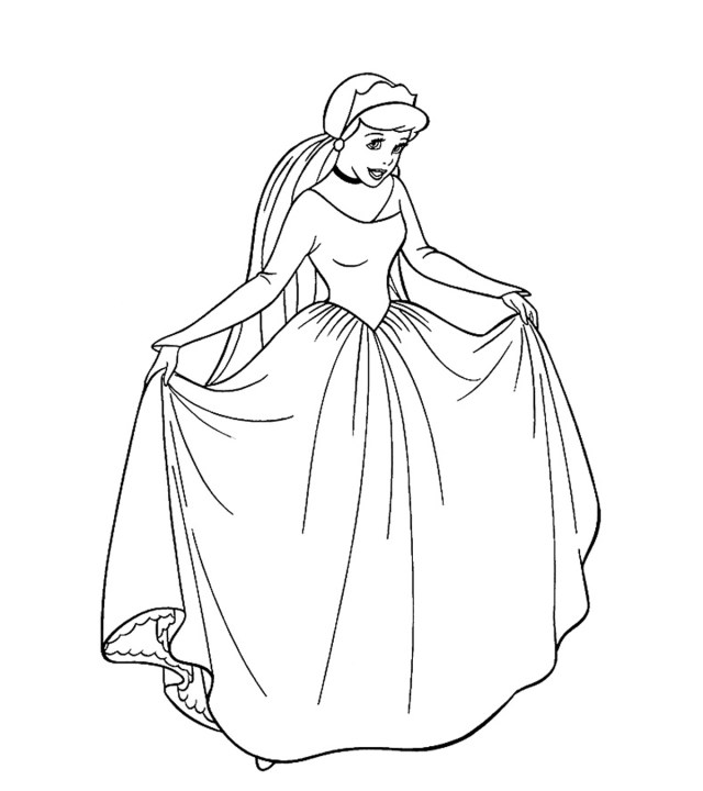 Top 19 Free Printable Princess Coloring Pages Online