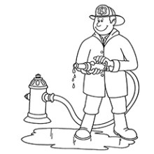 Kindergarten Community Helpers Coloring Pages
