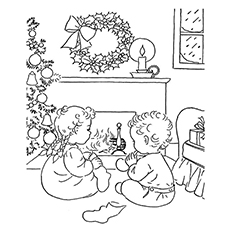 coloring christmas pages # 18